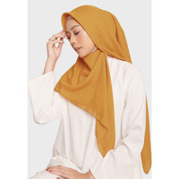 Diario - Hijab Wanita Plain Scarf Voal Yellow Series