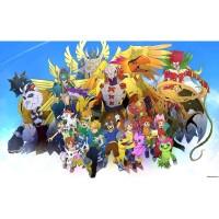 Kaset DVD Film Anime Digimon Series Complete