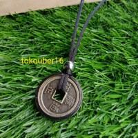 kalung koin logam / kalung tali China / kalung cowo / kalung pria