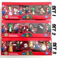 Action figure Mario Bros mini collectibles set Luigi Yoshi Toad