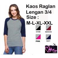 TKOPPA _ Atasan wanita | Kaos wanita | Kaos Raglan | Kaos lengan 3pr4