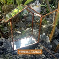 Glassbox Home rosegold Kotak Cincin | Terrarium | Ringbox
