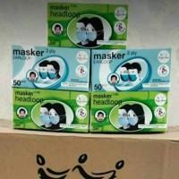 Masker medis 3ply Hijab/Earloop BESTMED SURABAYA -isi 50 pcs