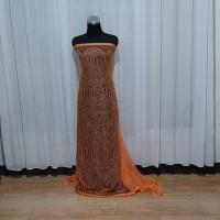 kain brukat/french lace orange nest uk. 250 x 125 cm