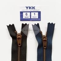 Resleting jeans ATG YKK 15cm 6inch metal zipper jeans seleting besi