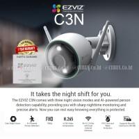 EZVIZ C3N 1080p Outdoor Colour Night Vision Smart Home Camera Wireles