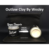 POMADE OUTLAW CLAY WATERBASED BY WESLEY HUANG 120 GR FREE SISIR+POUCH