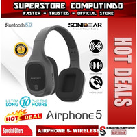 SONICGEAR AIRPHONE 5- Wireless Headset with Strong Bass & Clear Audio