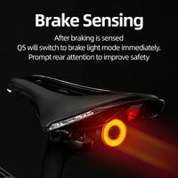 Lampu Sepeda lipat mtb roadbike rockbros Q5 lampu belakang otomatis
