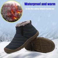 FL Sepatu Ankle Boots Pria/Wanita Anti Slip Bahan Bulu untuk Musim