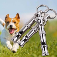 Pet Dog Whistle Two-tone Flute Barking Repeller Cat Training