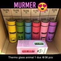 Thermos Glass Animal 450 Ml Botol Tempat Air Minum Termos Karakter