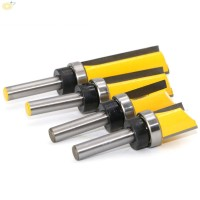 Router Bit Milling Straight End Trimmer Yellow Silver Tool Parts