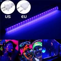 Lampu Strip LED Sinar UV 10W 48LED Warna Hitam Plug EU / US