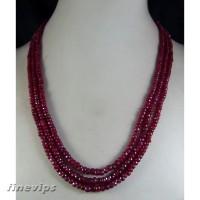 Kalung Vintage dengan Liontin Batu Permata Ruby 3x4mm untuk Wanita