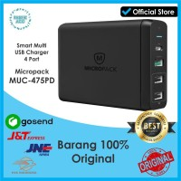 Charger Fast Charging Multi USB 4 Port Micropack MUC-475PD Charge