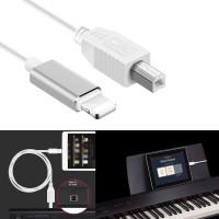 Kabel Konverter MIDI USB iOS Ke Tipe B Ringan untuk iPad