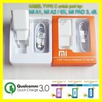 Fast Charging Xiaomi Mi6 Type C Q3 Ori Charger Hp Mi4C Mi4S Mi5 M