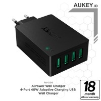 limited TPoint Aukey PA U36 Wall Charger 4 Port USB 18 W Turbo Wa