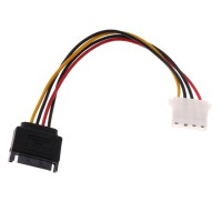 SATA 15Pin Male to 4Pin Female Power Extension Cable Adapter