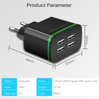 T4G USB 4 Port Charger 4A Adapter FastCharger Original tools