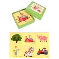 Mainan Puzzle Gambar Binatang untuk Edukasi Kognitif Anak