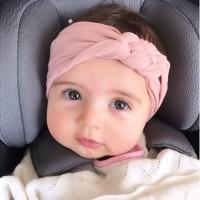 Fashion Baby Girls Chinese Knot Design Headband Cotton Headwear