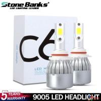C6 9005 Lampu Kepala Mobil 72W 8000LM 8000K 8000K Warna Biru Es