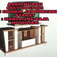 Rak TV Lemari Kaca bufet televisi undak minimalis murah besar ond