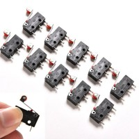 10Pcs micro-roller Lever Arm Switch kw12-3 PCB Microswitch i1