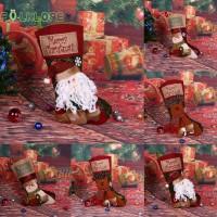 Fol Kaos Kaki Santa Claus untuk Dekorasi Pohon Natal Anak