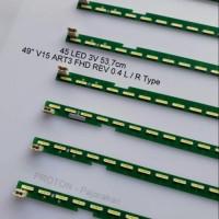 """Lampu Backlight TV LG 45 LED SMD 3V 54cm 2 pin 135V 49"""" V15 ART3 FHD"""