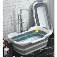 BATHE PROJECT Bak Mandi Bayi Lipat Baby Bathtub 60 x 40CM ZD009 [Gray]