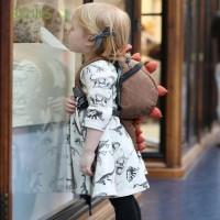 Bsuns Dress Lengan Panjang Bahan Katun Motif Bunga untuk Pesta