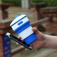 Botol Minum Lipat Portable Bahan Silikon Ukuran 350ml untuk Travel