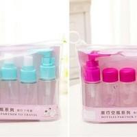 New 5 in 1 Travel Toiletries Kit 1 set isi 5 Pcs Botol last stok
