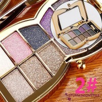✽UPUP✽Diamond Eye Shadow Palette & Makeup Brush Professional 10