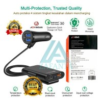 Charger Mobil 4 Port Usb Quick Charge 3.0 suku cadang
