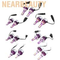 Nearbeauty 1 Pasang Lampu Depan Mobil C6 LED H1 H3 H4 H7 H11 9005