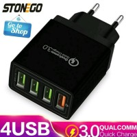STONEGO 4 Port USB Wall Charger 31W Fast Charging Original limite