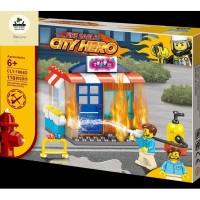 Mainan Lego Bangunan Pemadam Kebakaran City Hero