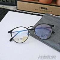 frame kacamata pria wanita oval glasses