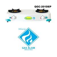 Kompor Gas Quantum 2 Tungku QGC-201 DEP ( KHUSUS GAS ALAM )