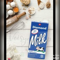 Susu UHT Full Cream Diamond Milk Plain 1L 1000 ml 1 Liter 1000ml