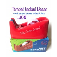 Besar TEMPAT SOLATIP Isolasi Tape Dispenser DL50 LION ATK0944LN
