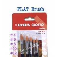 FLAT Brush isi 5 Kuas Plat Set Lyra Giotto 569900 Taklon art ATK0956LY