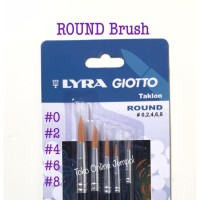 ROUND Brush isi 5 Kuas Bulat Set Lyra Giotto 569800 Taklon ATK0955LY