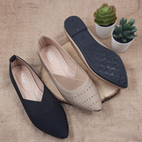 Otha Shoes By Laviola - Sepatu Flat Shoes Wanita - H307 OLF BLACK-KHAK