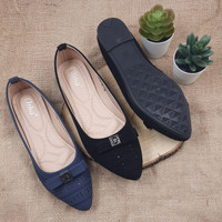 Otha Shoes By Laviola - Sepatu Flat Shoes Wanita - H299 OLF BLACK-NAVY