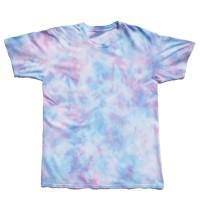 Tie Dye T-Shirt Marble Pink Blue - S